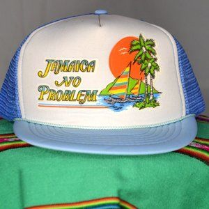 Other - vintage 80s 'Jamaica' snapback trucker hat